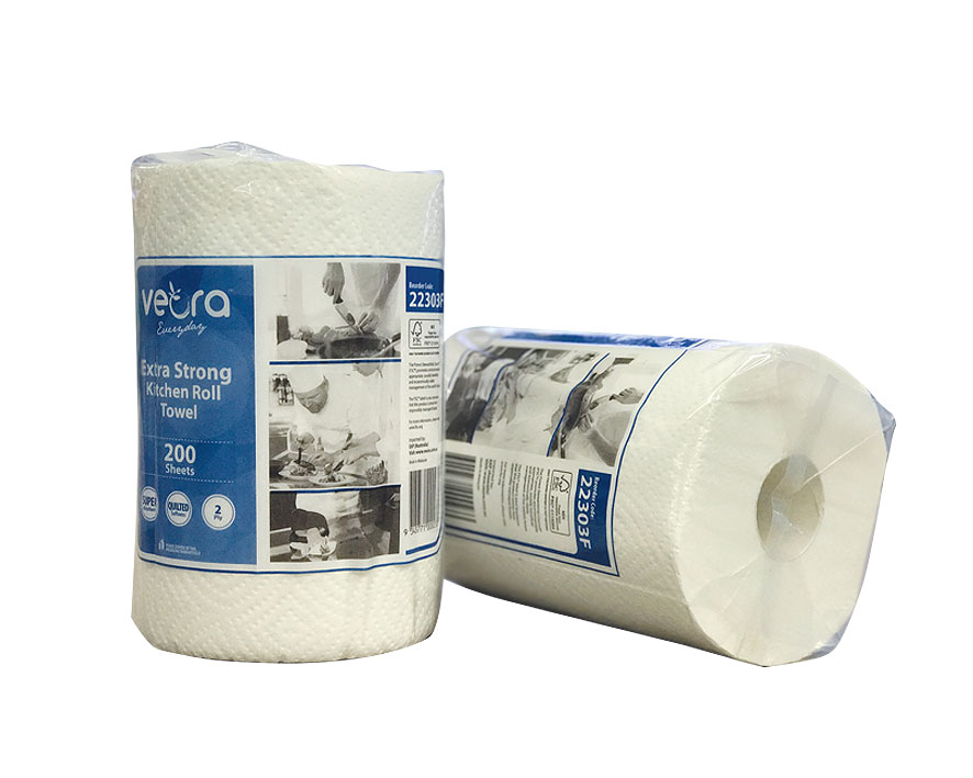 22303F-Veora-Everyday-Kitchen-Roll-Towel-200's-2-Ply