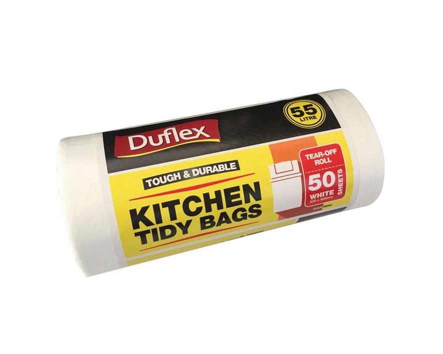 DFKT55WR-Duflex-Kitchen-Tidy-Bag-55L-50's-White-Roll